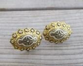 Damascene earrings, vinta...