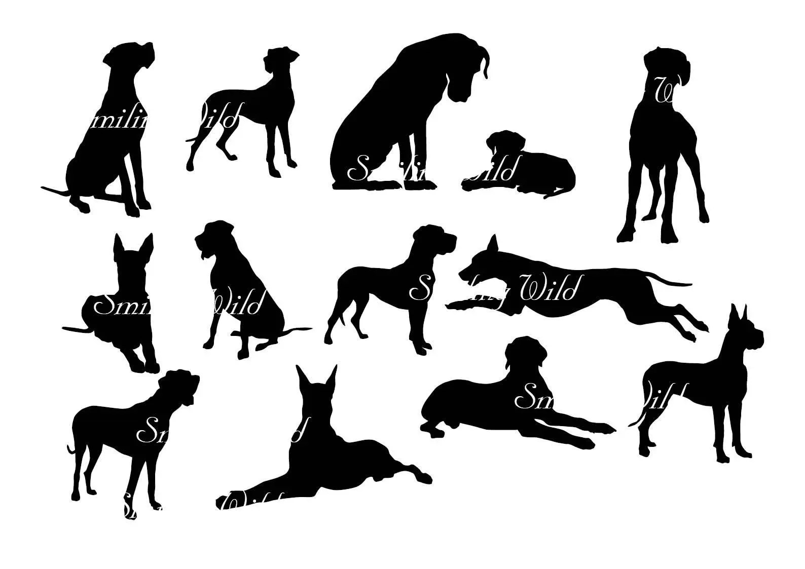 Great Dane Silhouette Svg Clipart Deutsche Dogge