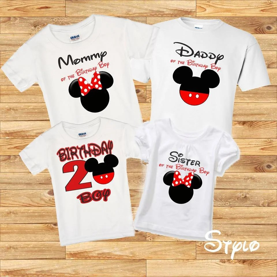 Mickey Mouse 1st Birthday Shirt Boy
