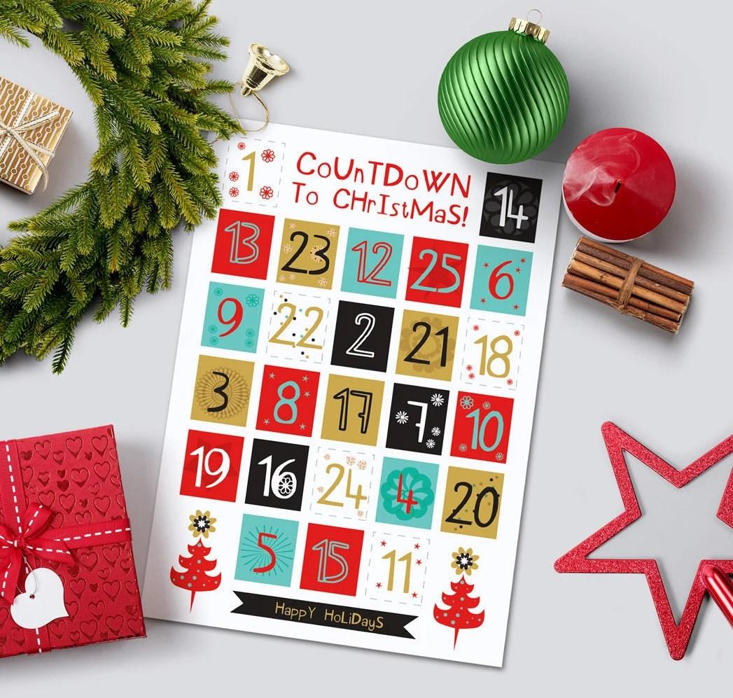 Printable Advent Calendar Diy Advent Calendar Christmas