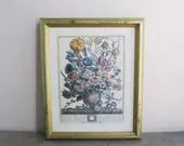 Flower print litho, March...