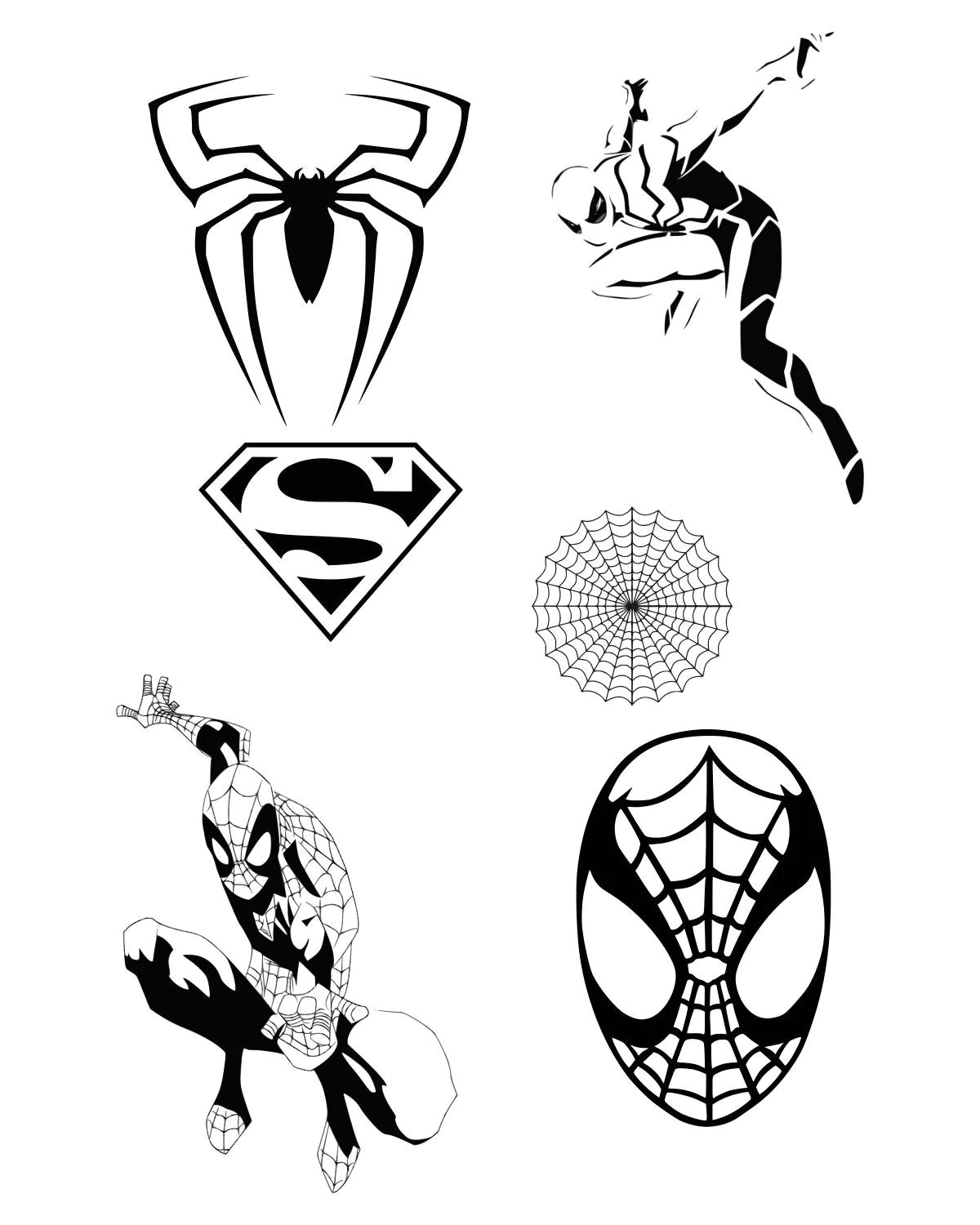 Spiderman Svg Clipart Silhouette Spider Man Vector Files