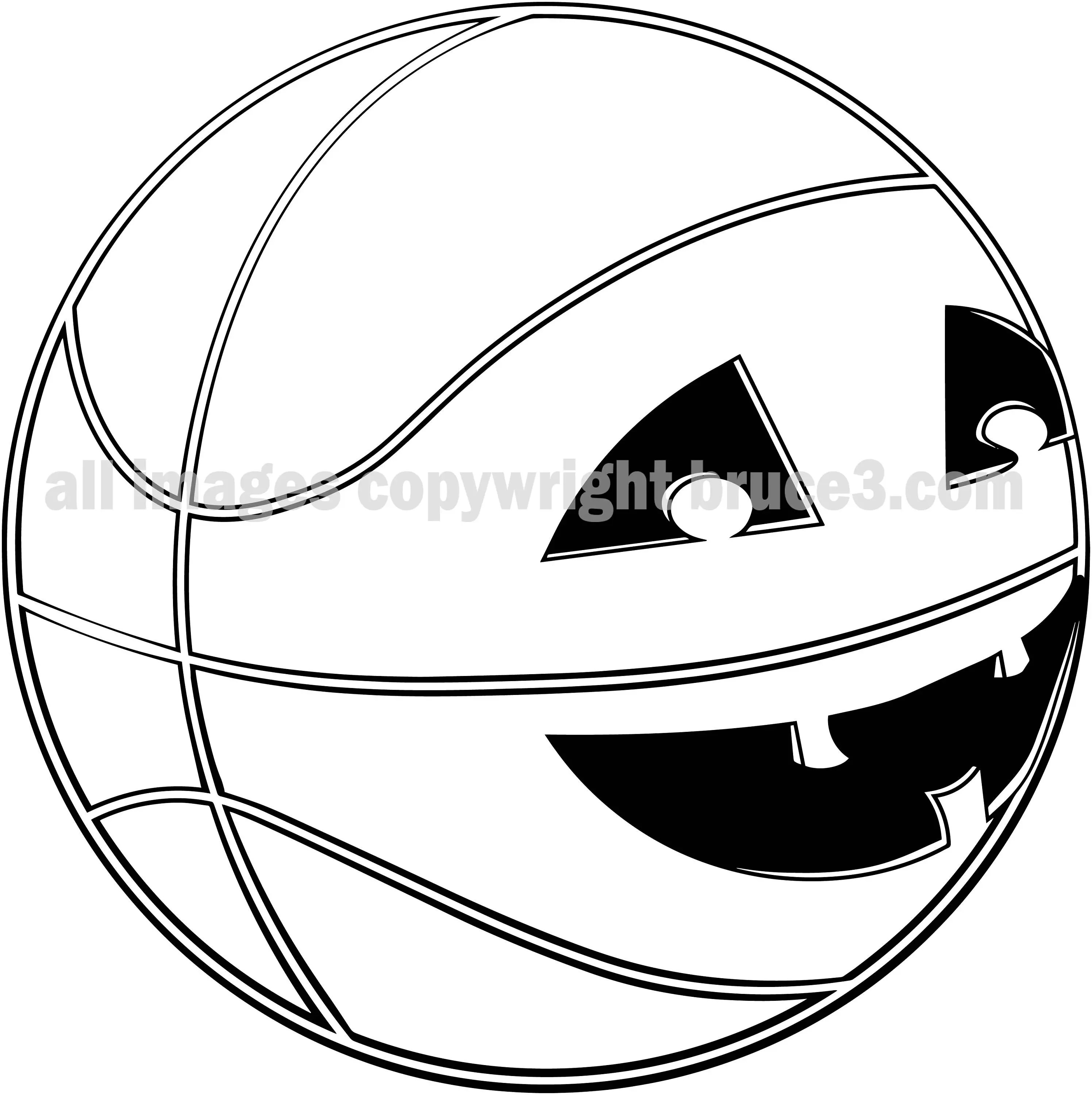 Basketball Halloween Graphic Jack O Lantern Instant Download