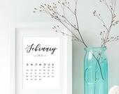 February Calendar 2018 Pr...