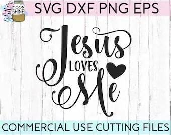 Jesus loves me svg | Etsy