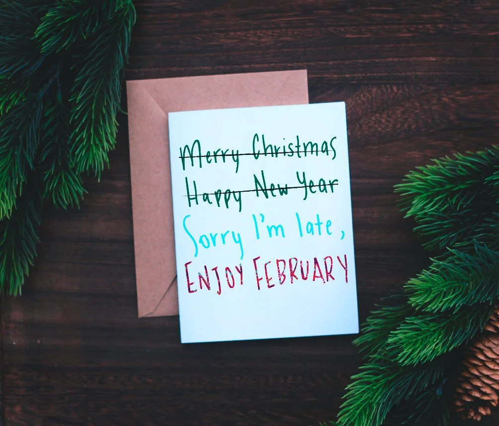 Belated Holiday Card Etsy