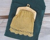 Antique gold plated mesh ...