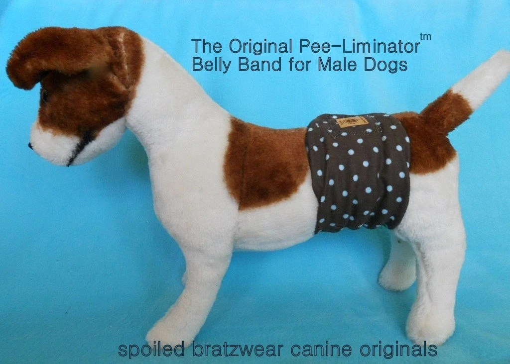 2 pack medium Soft Dog Diaper Belly Bands- Custom Made and comfortable