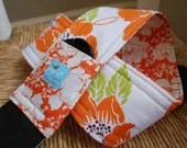 Camera Strap, Orange Dolce, Reversible, Built in Lens Cap Pocket