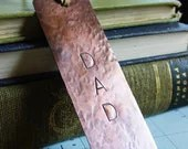 Dad Bookmark Personalized Name Hand Stamped Hammered Copper Metal Father's Day Gift - PearlieGirl