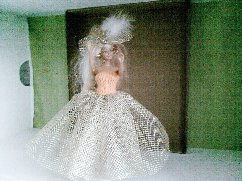 BARBIE CLOTHES Handmade Royal Wedding inspired  dress- barbie doll (nannycheryl original)  857 x 84