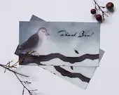Whismcial Bird Thank You Tags from Original Artwork