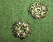 Vintage Ornate Gold Brass Escutcheons Handles Drawer Pulls Steampunk Gothic Jewelry Destash Art DIY Supplies