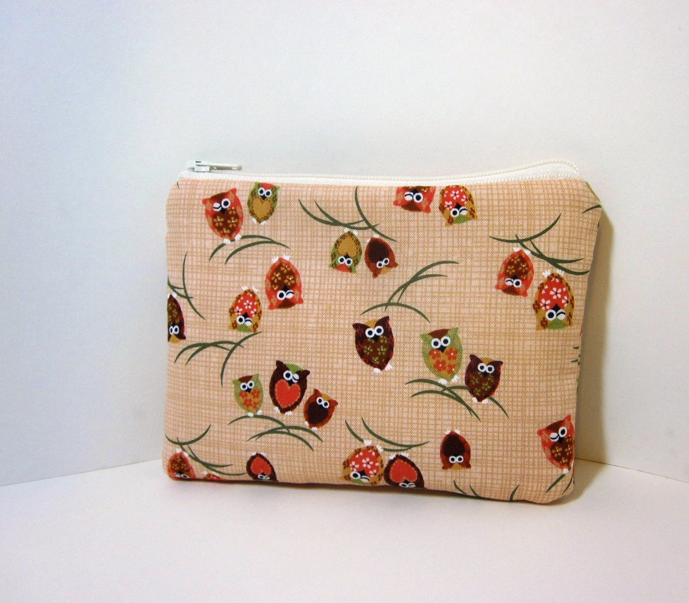 Small Zipper Pouch - Winking Owls