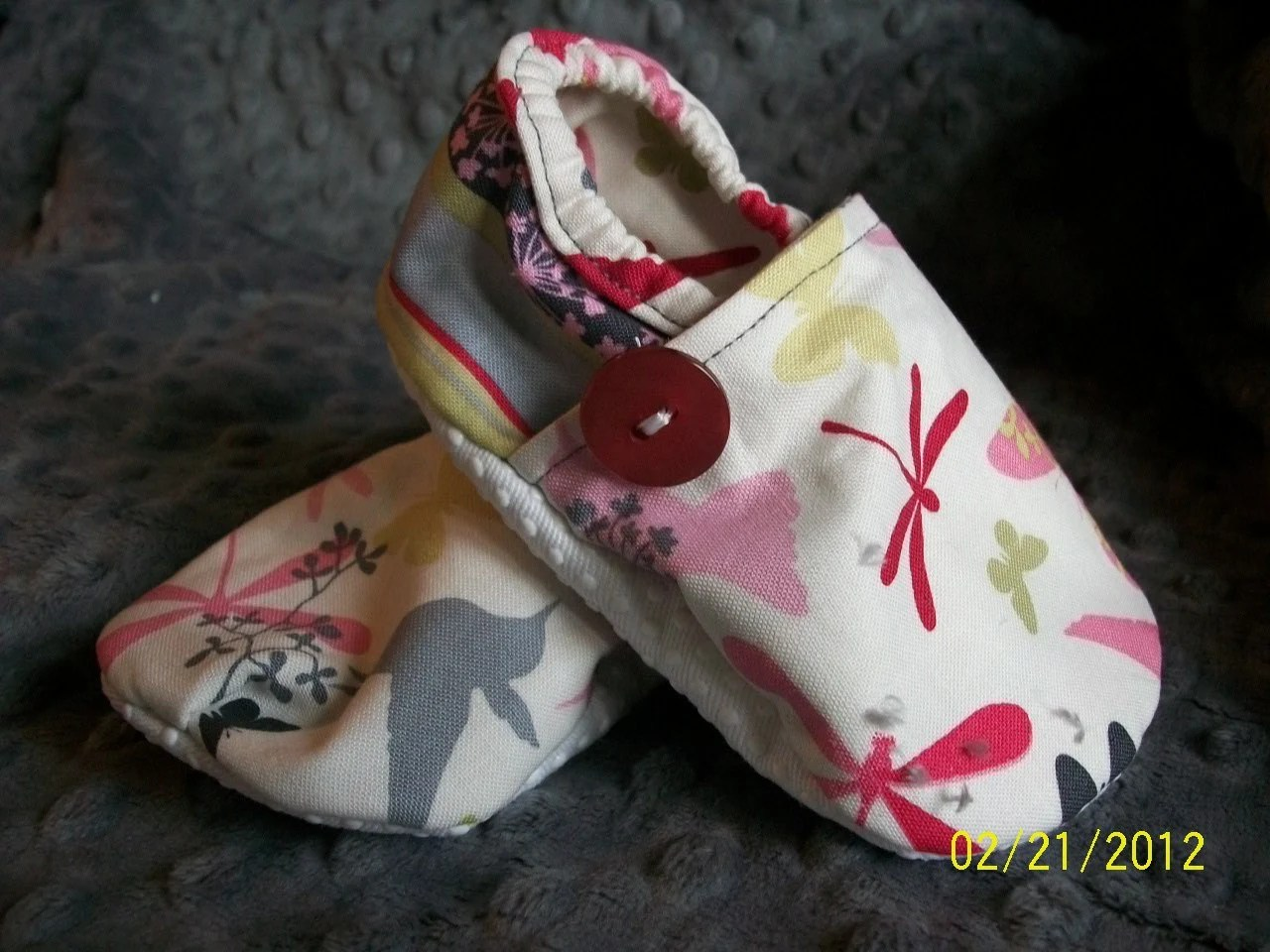 Humming Birds and Butterfly Booties. Available in sizes 0-18 mo.
