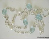 Beach Glass Fresh Water Pearls Sterling Silver - Isle of Palms