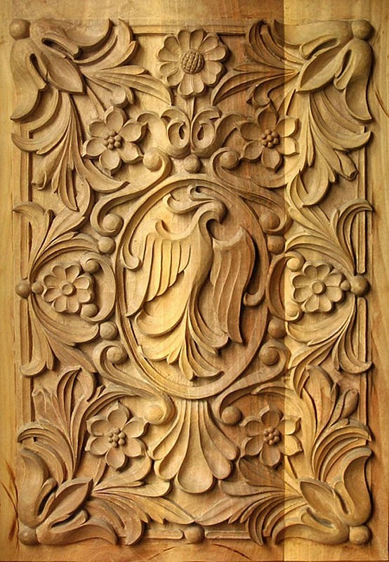 Rectangular panel 3, wood carving, bulgarian renaissance style, IN STOCK, ready for shipping - dimitarmanev