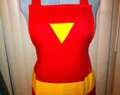 Avengers Iron Man apron - unisex style - Comes with Iron Man chest light that attaches to apron - luv2right