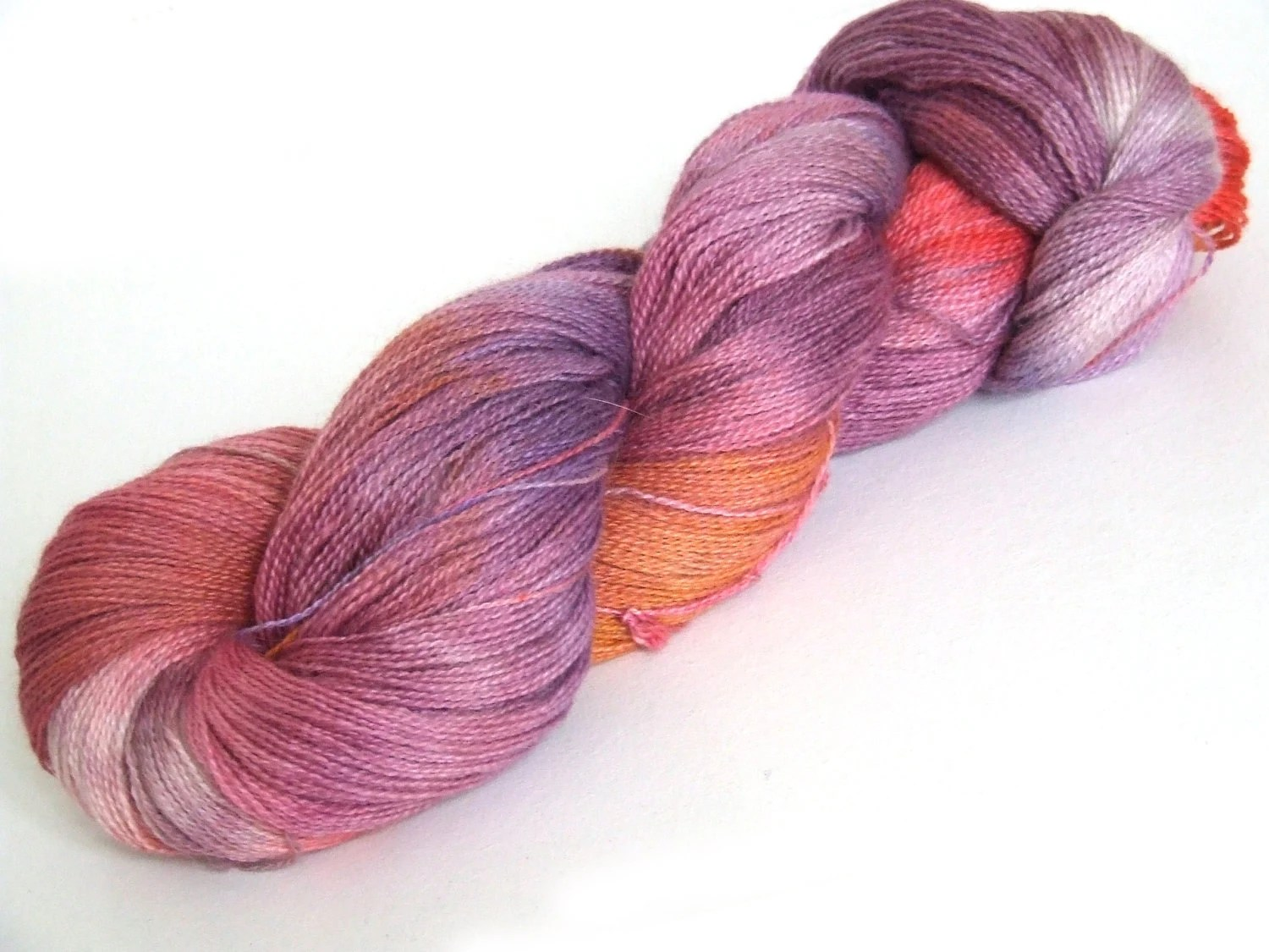 Sheperds Delight Luxury Lace Hand Dyed Baby Alpaca Silk Cashmere 100g