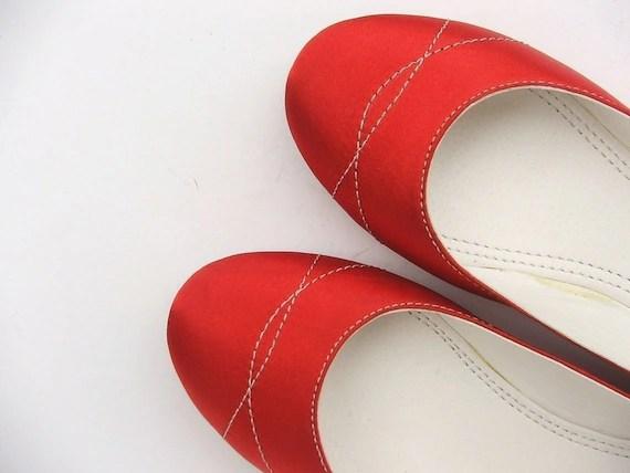 shoes red shoes women shoes  EcoFriendly  Vegan  shoes wedding shoes flat shoes  handmade shoes