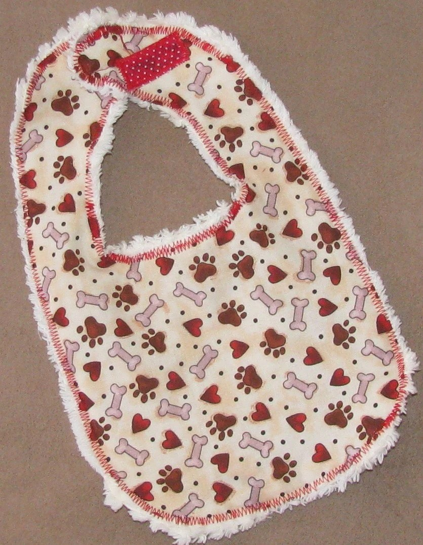 Doggy Hearts Bib - READY TO SHIP