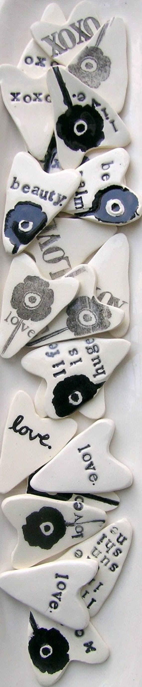 ceramic heart.
