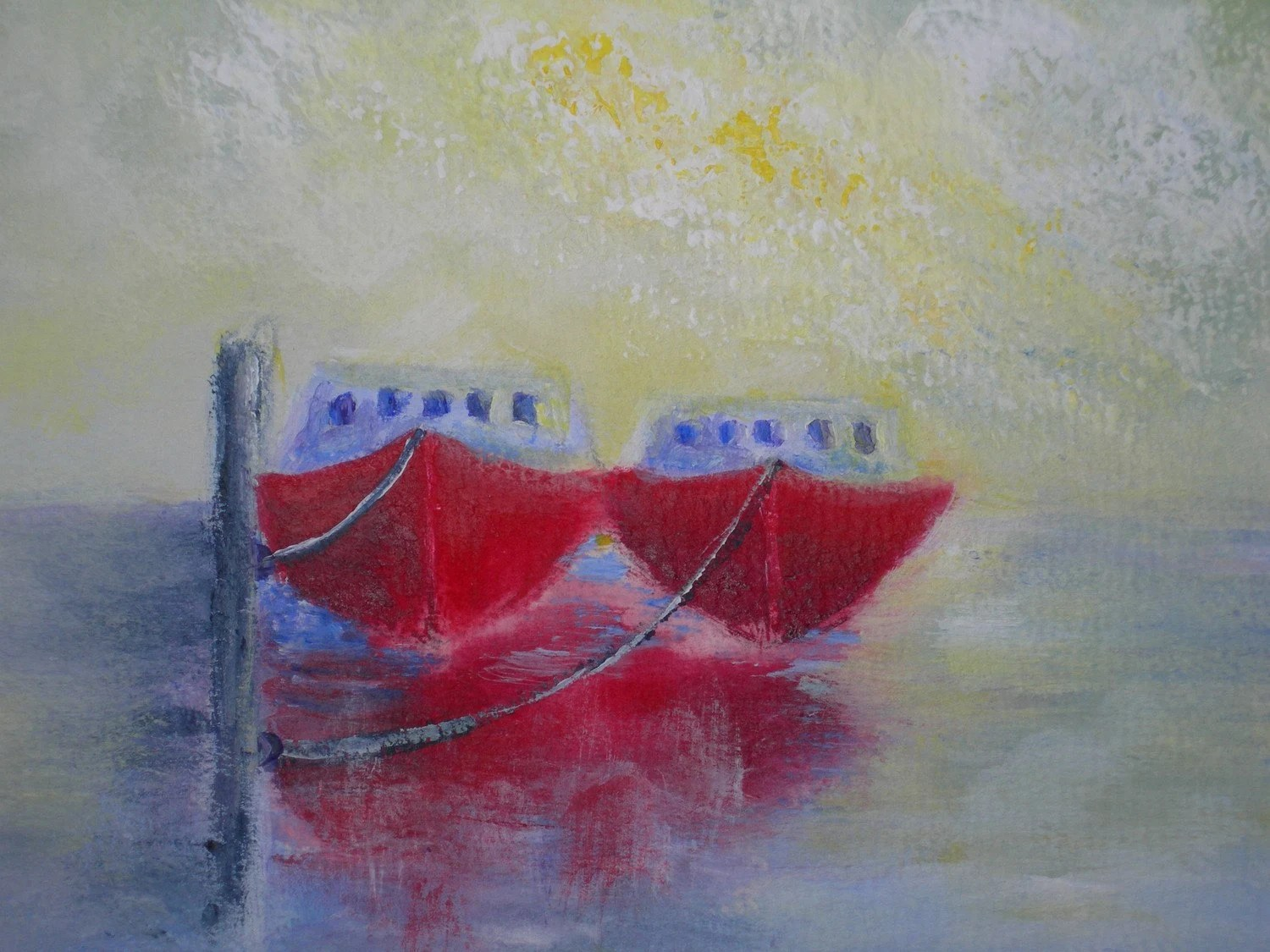 Fishing Boats Original Painting Original Art