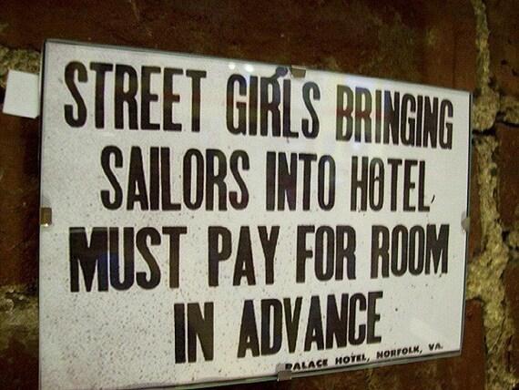 retro vintage streetgirls and sailors print