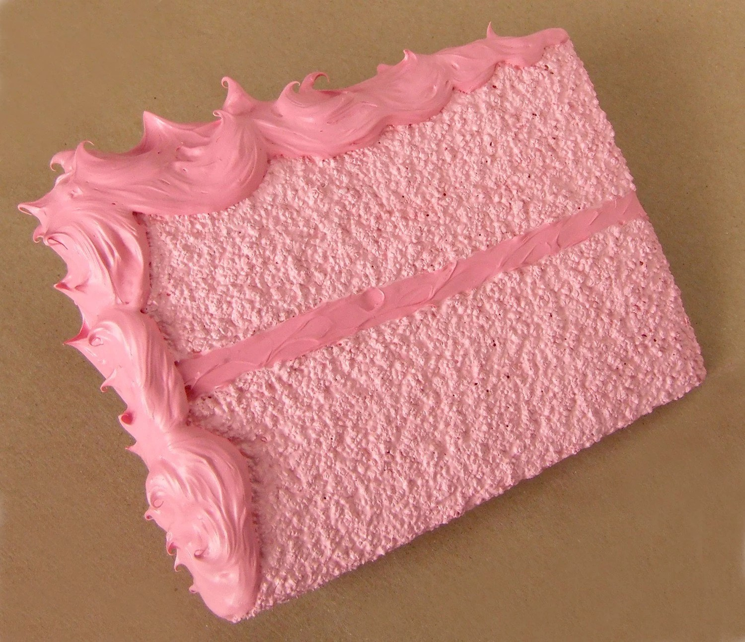 Birthday Cake Card -mailed for you- strawberry pink.