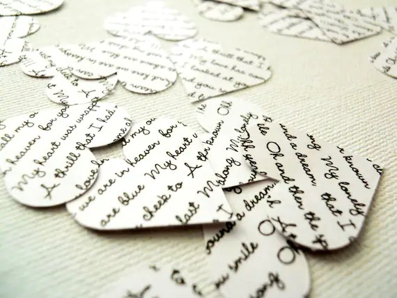 Paper Confetti Heart Cutouts 100 Count Double Sided - Custom