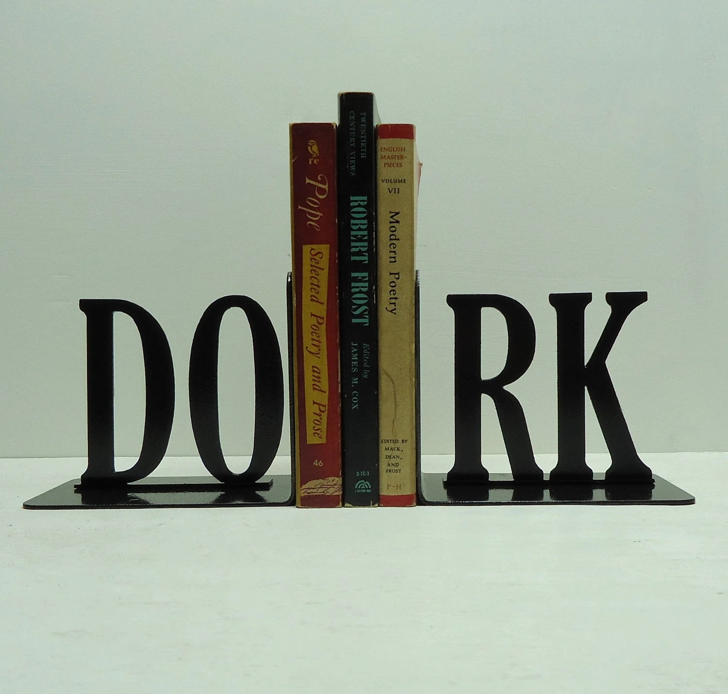 DORK Text Bookends - FREE USA Shipping
