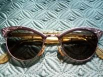 Vintage 12K Gold Filled American Optical Cat Eye 1950's Sunglasses