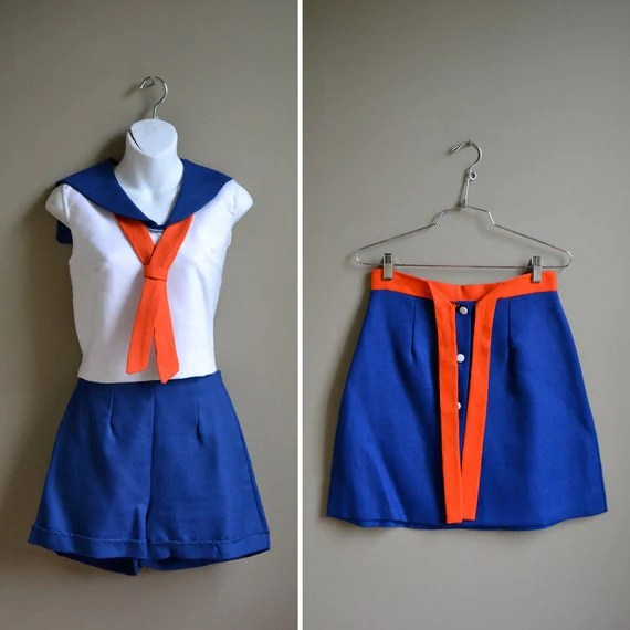 60s mod nautical sailor girl costume / outfit