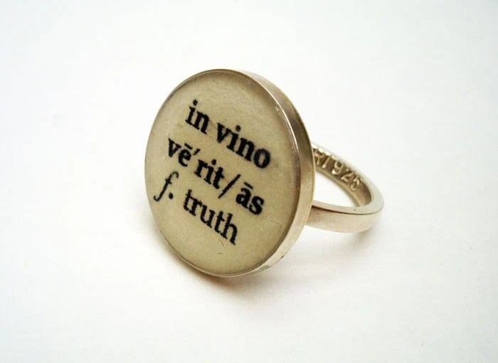 In Vino Veritas Truth Ring - size 6.25