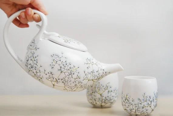 Hand Painted Ceramic Tea Set