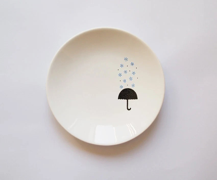 Blue Rain Candy Dish by ZuppaAtelier