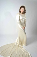 Vintage 1930s Wedding Dress // Bridal Salon at Fab Gabs: The Hollywood Ingenue Bias Cut Gown