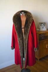 GLAMOROUS Very CHERRY Deco Wool & Fur Coat ( medium)