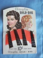 Original Card with Gayla Hold Bob Bobby Pins - Vintage
