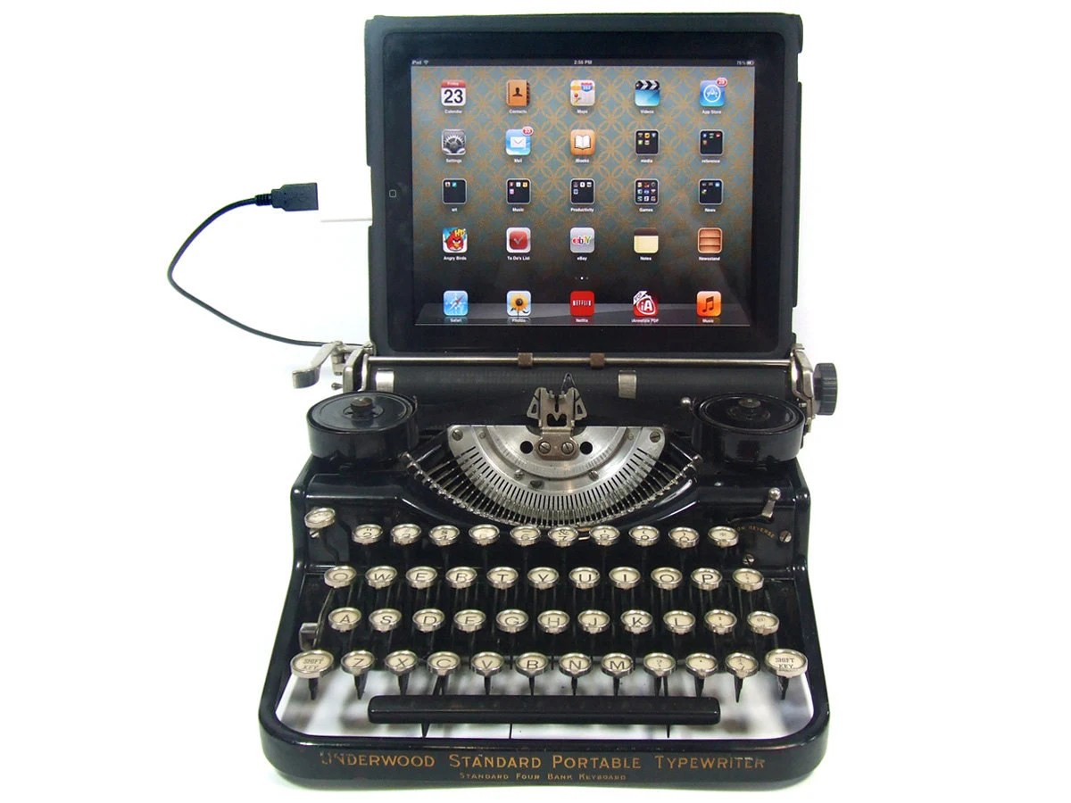 USB Typewriter Computer Keyboard -- Underwood Standard c1925