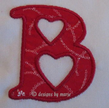 "Applique ""Heart"" Monogram Set"