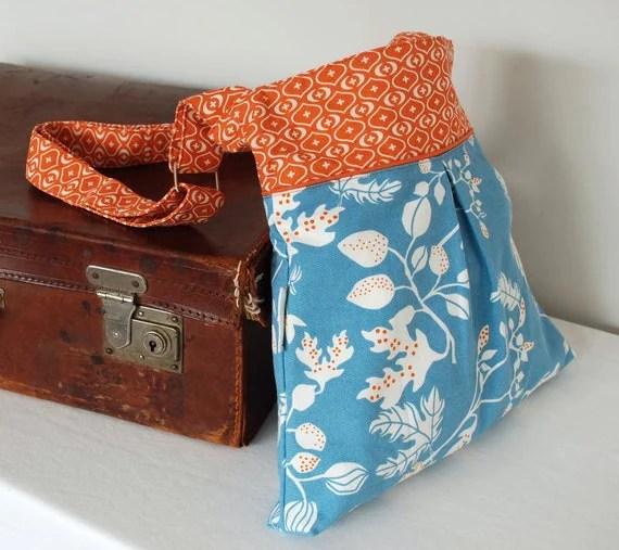 Blue and Orange Hobo Bag - Shoulder Bag