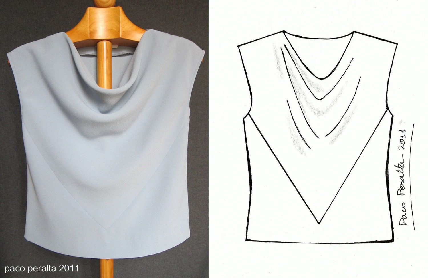Draped top from Paco Peralta