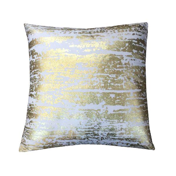 velvet square pillow shams gold printed