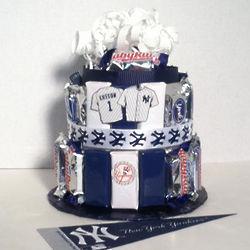 Yankees Baseball Candy Bar Cake Findgift Com