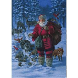 National Geographic Woodland Santa Christmas Cards