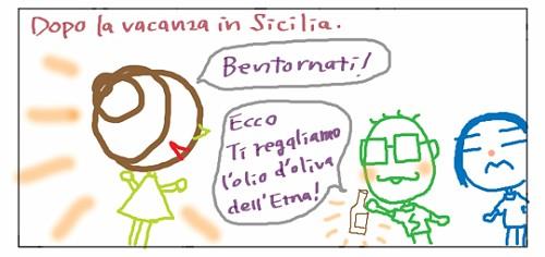 Dopo la vacanza in sicilia. Bentornati! Ecco Ti regaliamo l'olio d'oliva dell'Etna!