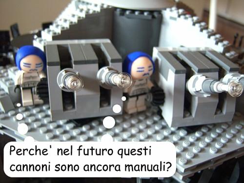 """Stormtrooper yokesi: """"Perche' nel futuro questi cannoni sono ancora manuali?"""""""