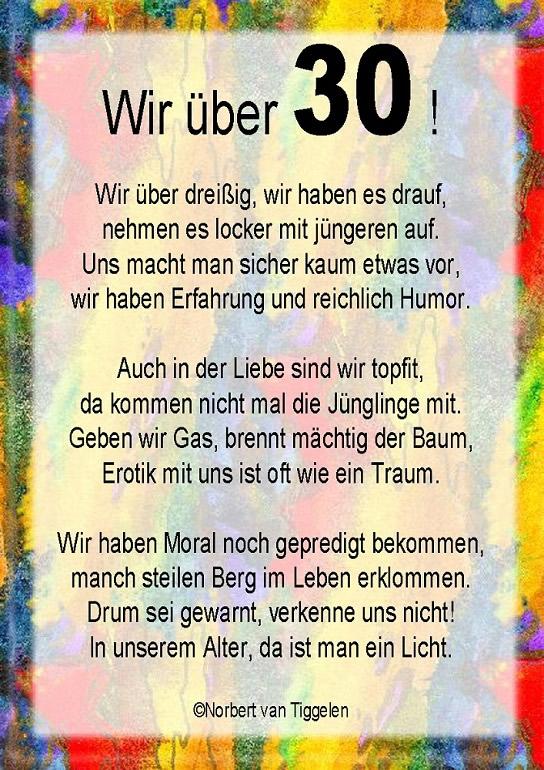 30 Geburtstag Gluckwunsche Und Spruche