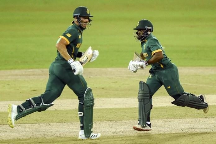 Aiden Markram and Temba Bavuma run across for a single, Sri Lanka vs South Africa, 1st ODI, Colombo, September 2, 2021
